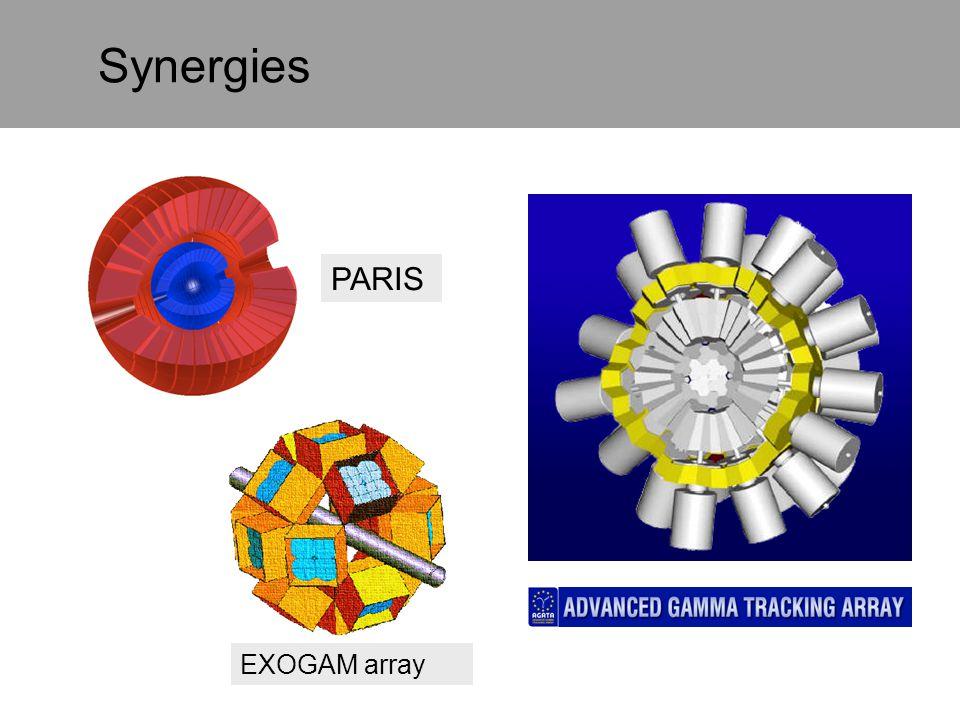 Synergies PARIS EXOGAM array