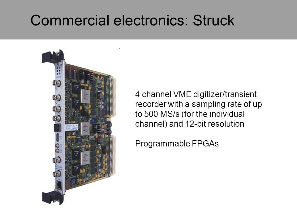 Commercial electronics: Struck