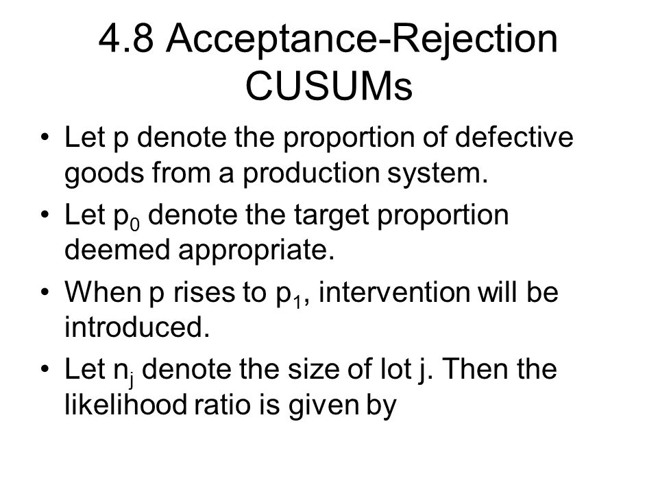 4.8 Acceptance-Rejection CUSUMs