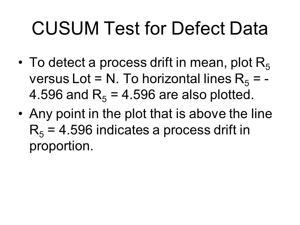 CUSUM Test for Defect Data
