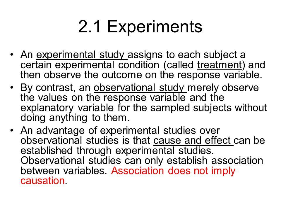 2.1 Experiments