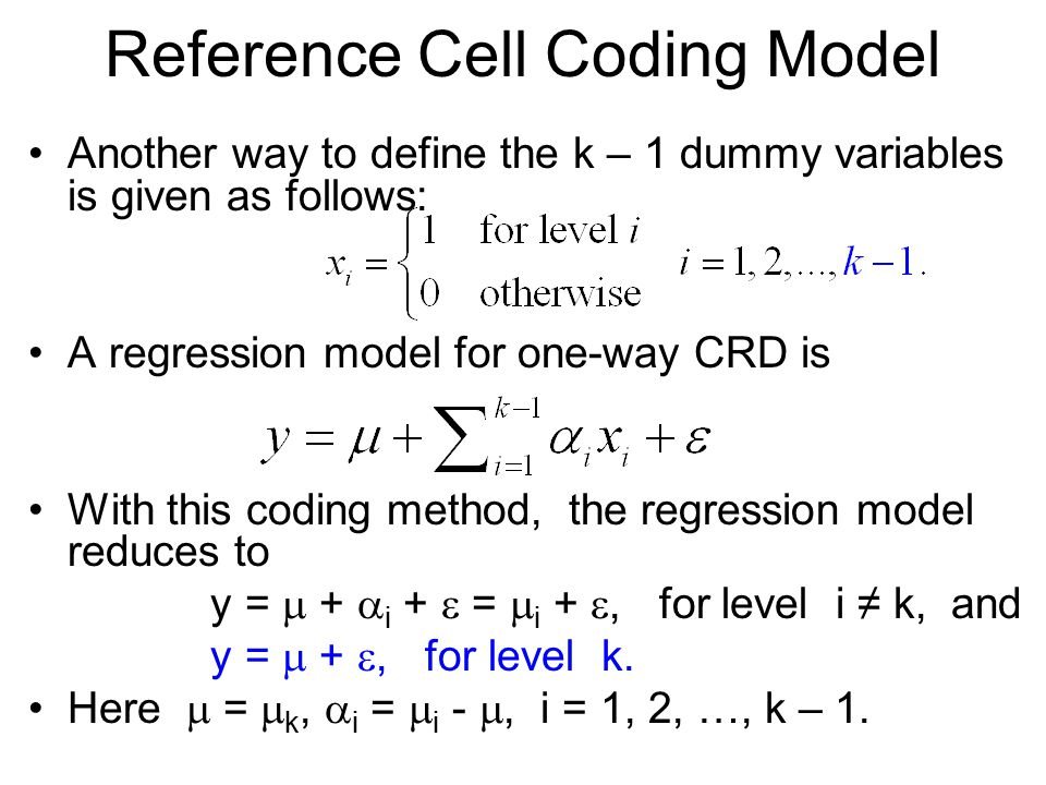 Reference Cell Coding Model