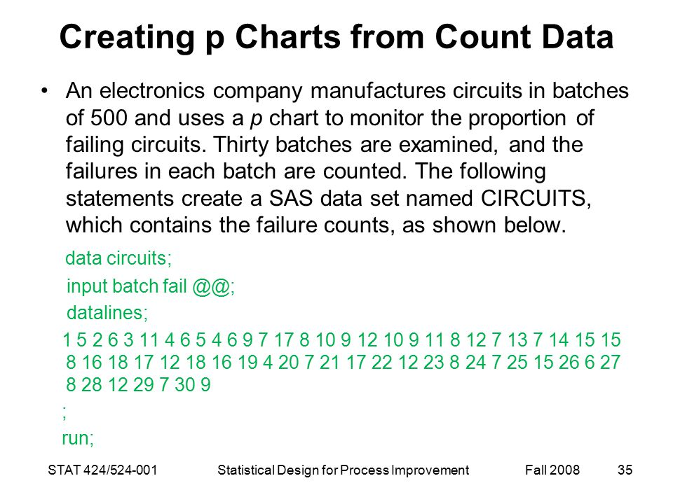 Creating p Charts from Count Data