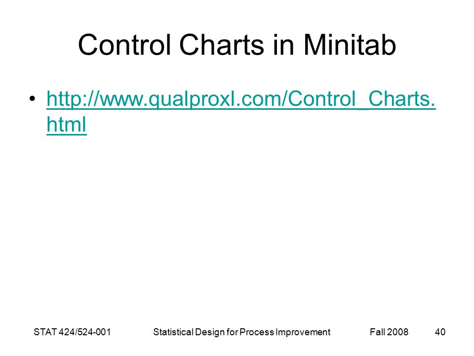 Control Charts in Minitab