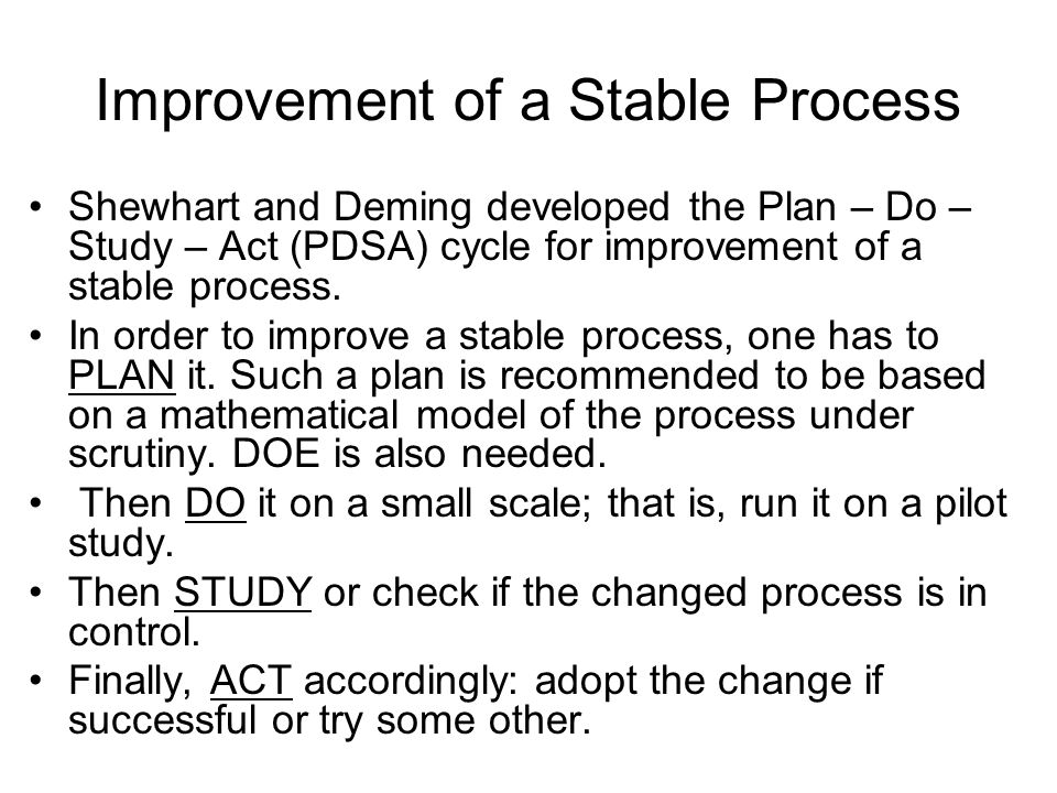 Improvement of a Stable Process