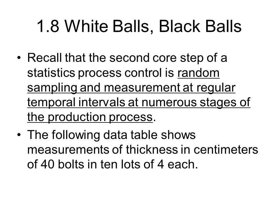 1.8 White Balls, Black Balls
