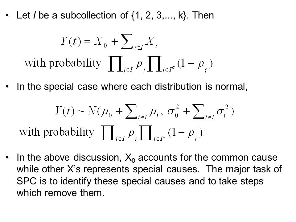 Let I be a subcollection of {1, 2, 3,..., k}. Then