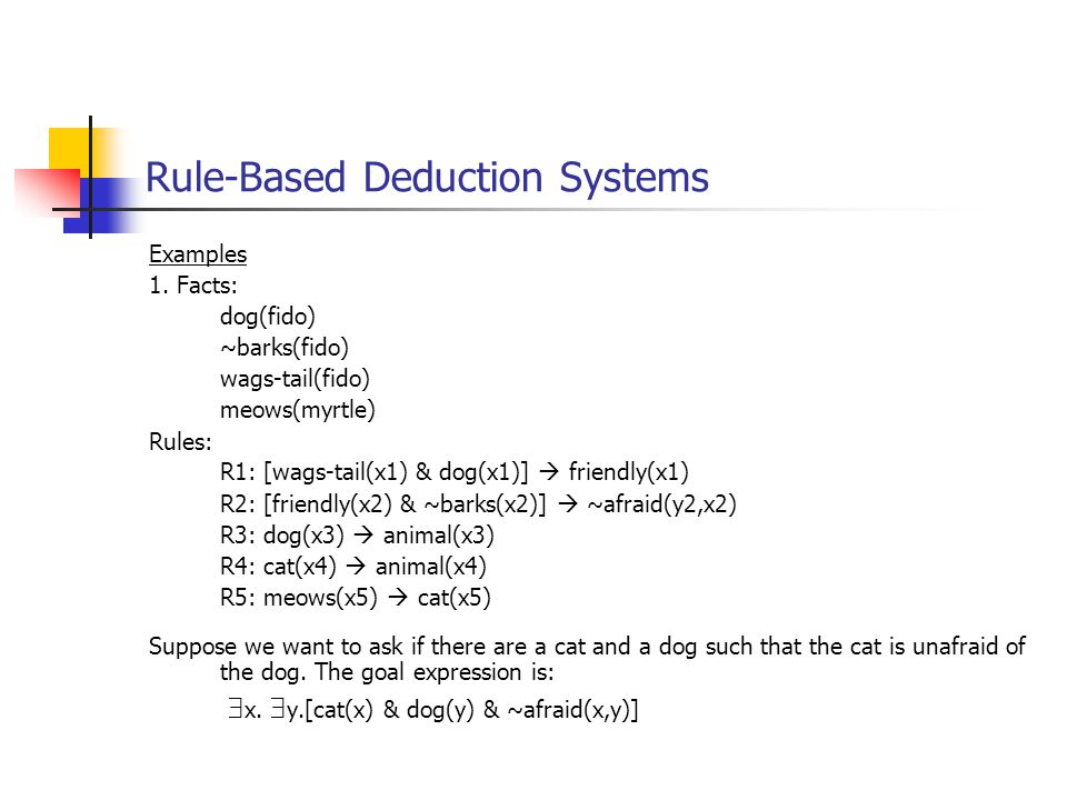 Rule-Based Deduction Systems