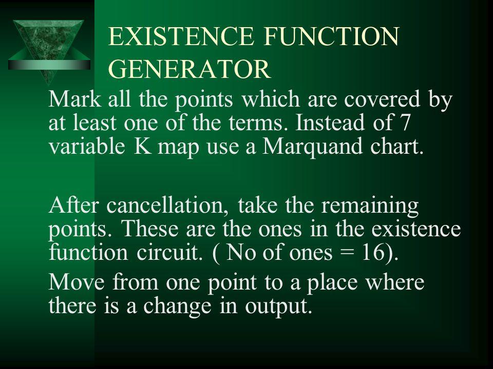 EXISTENCE FUNCTION GENERATOR