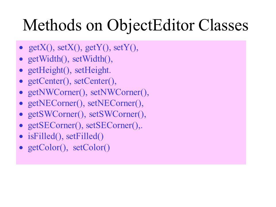 Methods on ObjectEditor Classes