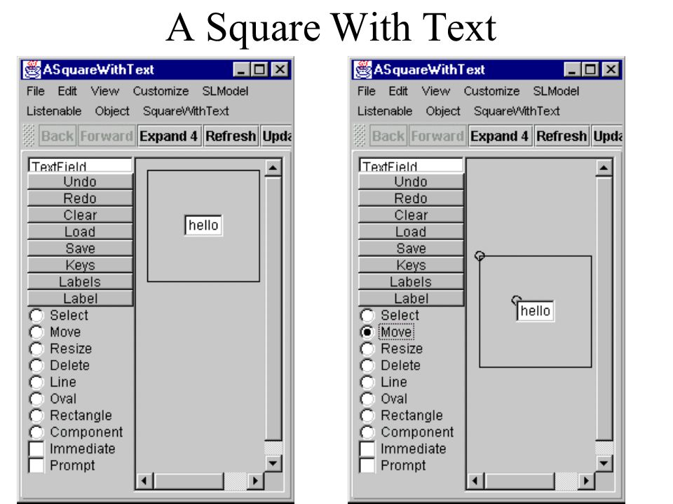 A Square With Text