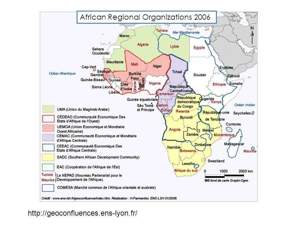 African Regional Organizations 2006