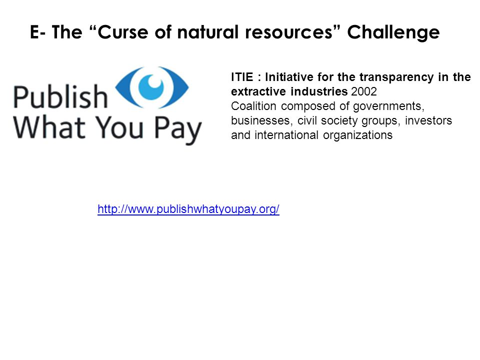 E- The Curse of natural resources Challenge