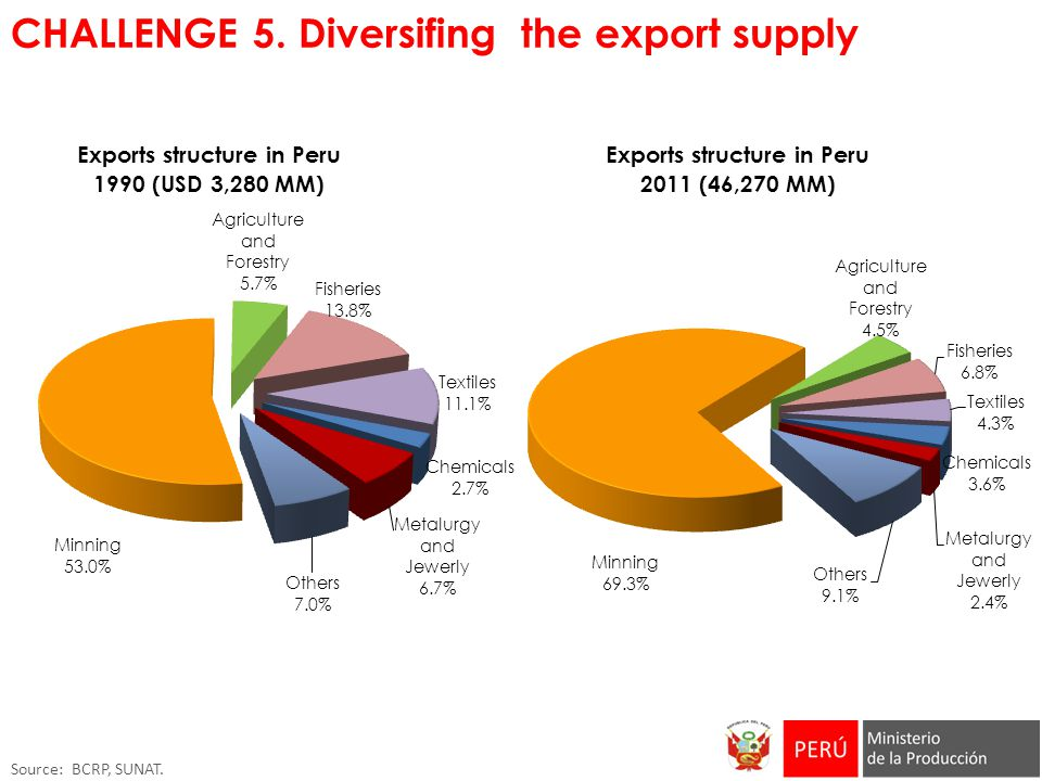 CHALLENGE 5. Diversifing the export supply
