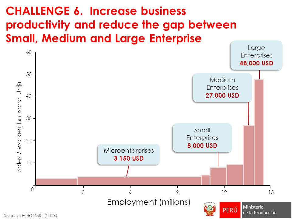 CHALLENGE 6. Increase business productivity and reduce the gap between Small, Medium and Large Enterprise