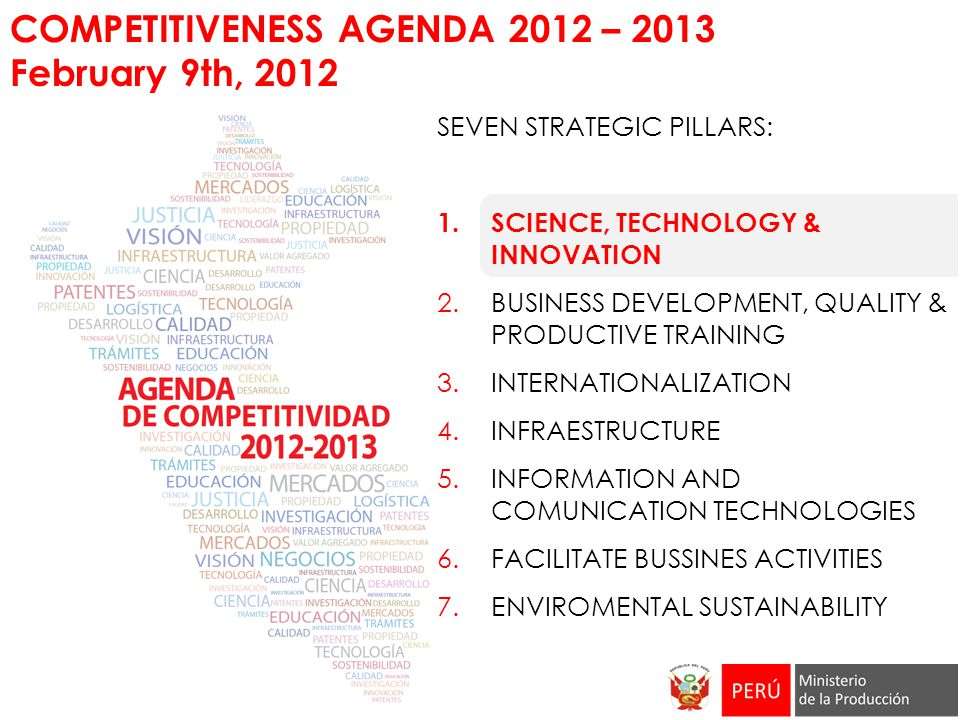 COMPETITIVENESS AGENDA 2012 – 2013 February 9th, 2012