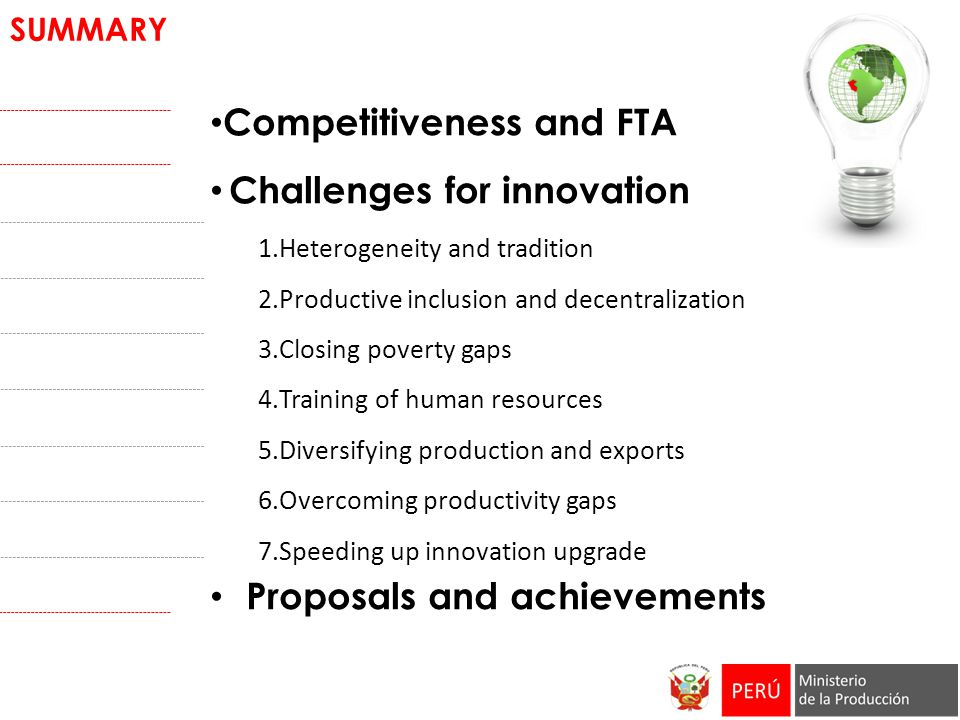 Competitiveness and FTA Challenges for innovation