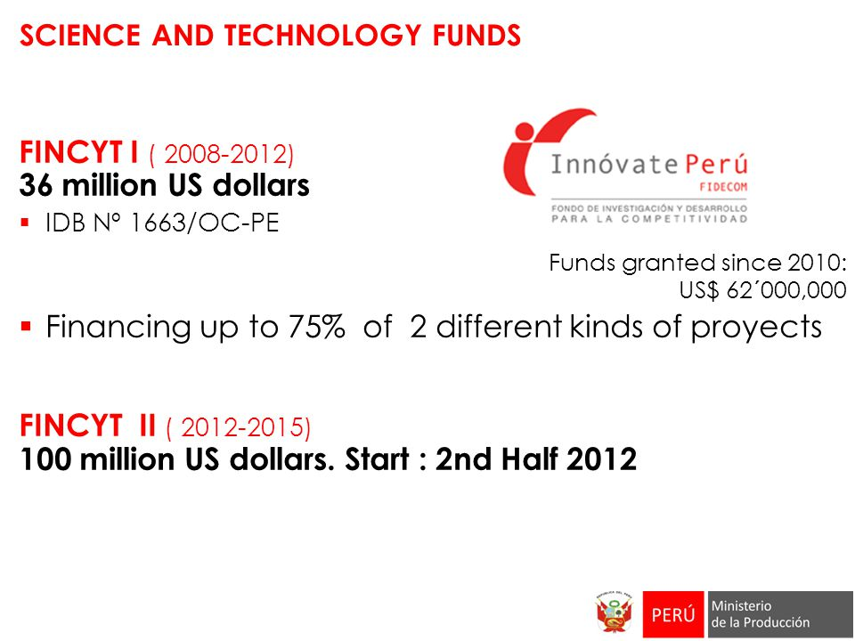 SCIENCE AND TECHNOLOGY FUNDS