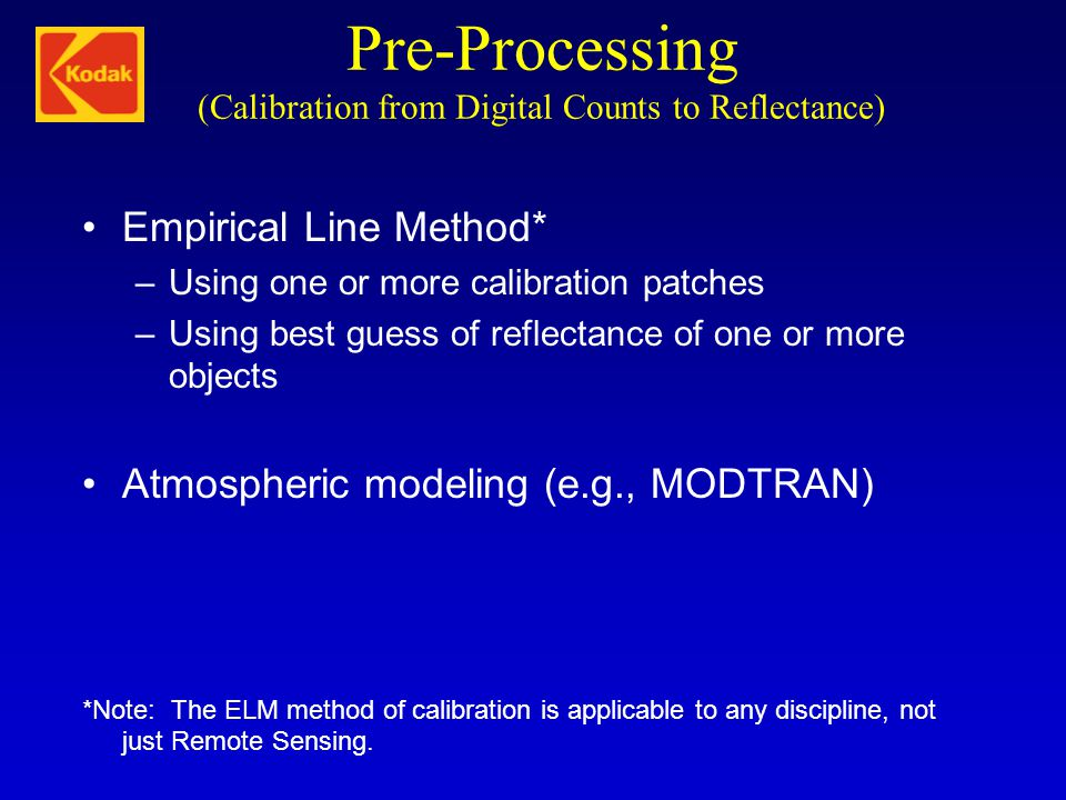 Pre-Processing (Calibration from Digital Counts to Reflectance)