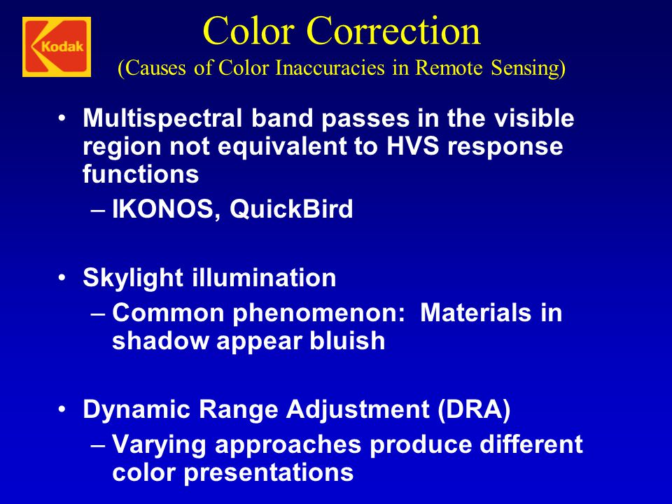 Color Correction (Causes of Color Inaccuracies in Remote Sensing)