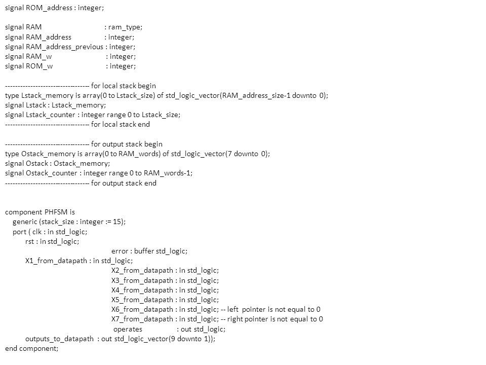 signal ROM_address : integer;