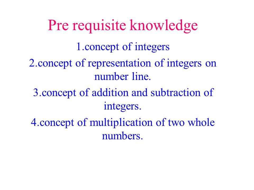 Pre requisite knowledge