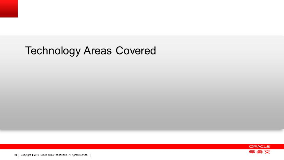 Technology Areas Covered