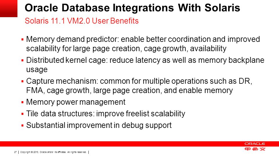 Oracle Database Integrations With Solaris