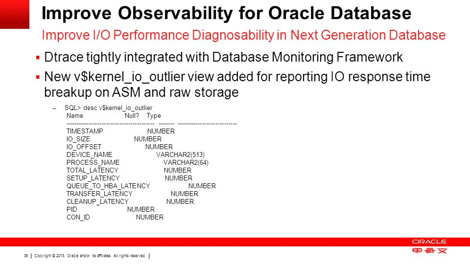 Improve Observability for Oracle Database