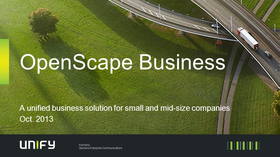 A unified business solution for small and mid-size companies Oct. 2013