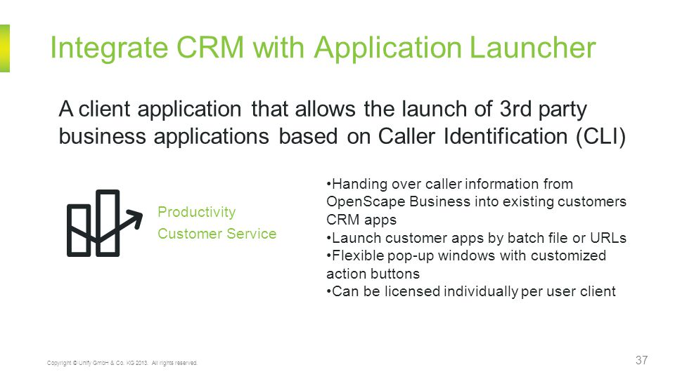 Integrate CRM with Application Launcher