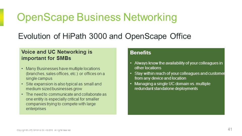 OpenScape Business Networking