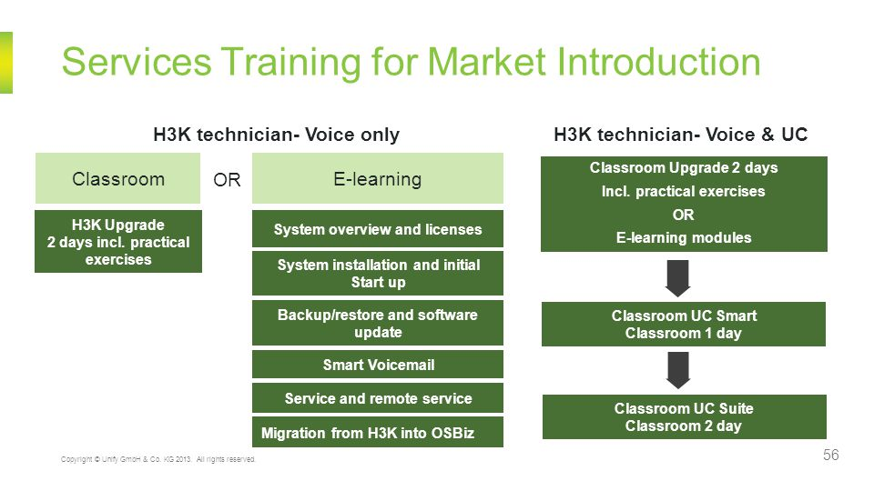 Services Training for Market Introduction