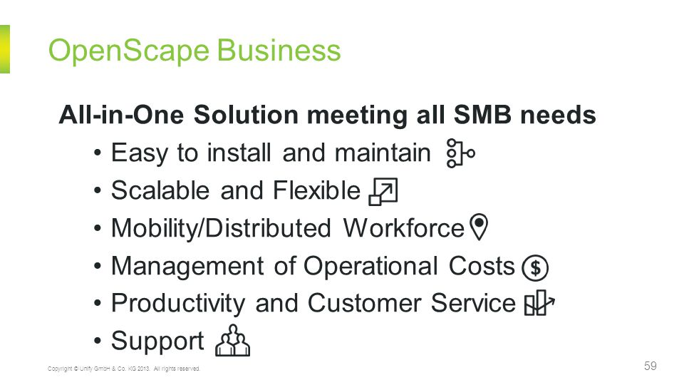 OpenScape Business All-in-One Solution meeting all SMB needs