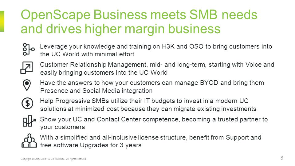 OpenScape Business meets SMB needs and drives higher margin business