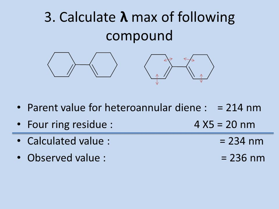 3. Calculate λ max of following compound