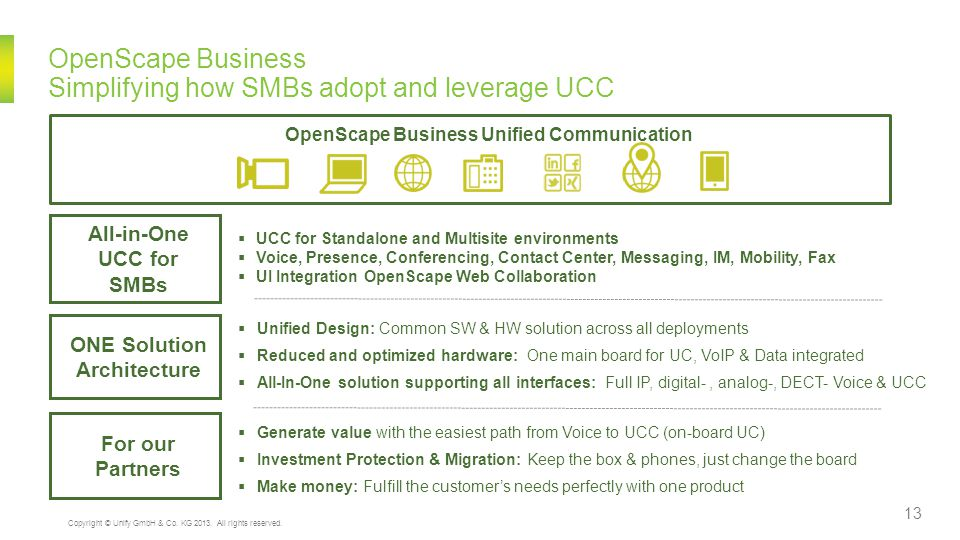 OpenScape Business Simplifying how SMBs adopt and leverage UCC