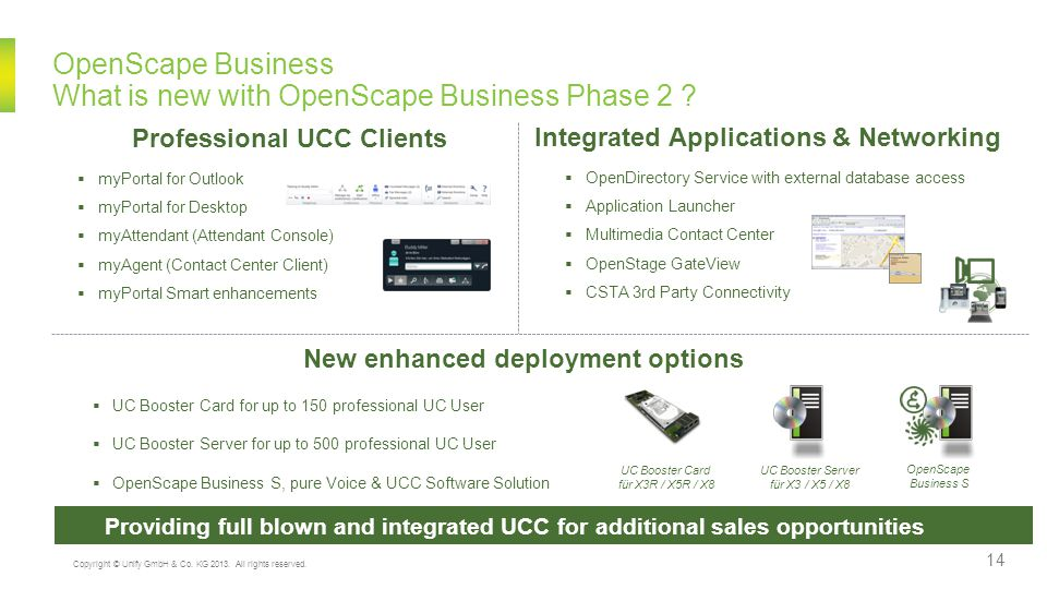 OpenScape Business What is new with OpenScape Business Phase 2