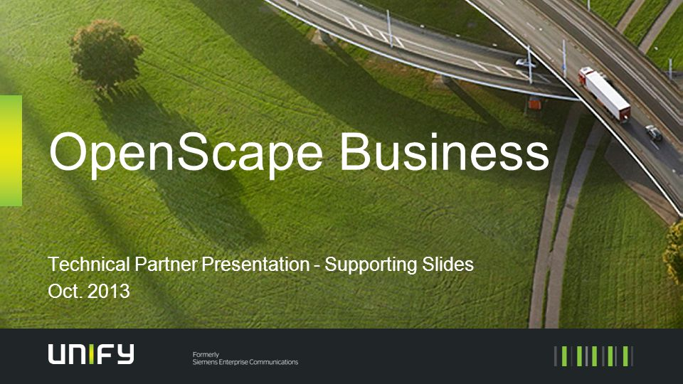 Technical Partner Presentation - Supporting Slides Oct. 2013