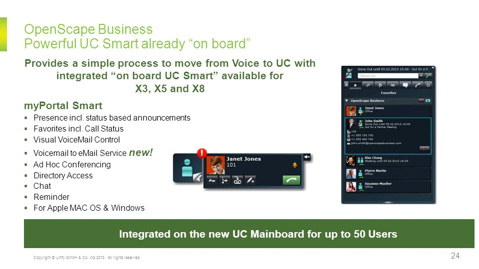 OpenScape Business Powerful UC Smart already on board