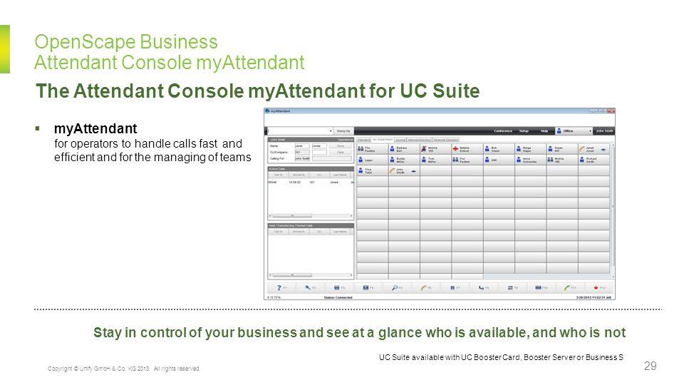 OpenScape Business Attendant Console myAttendant