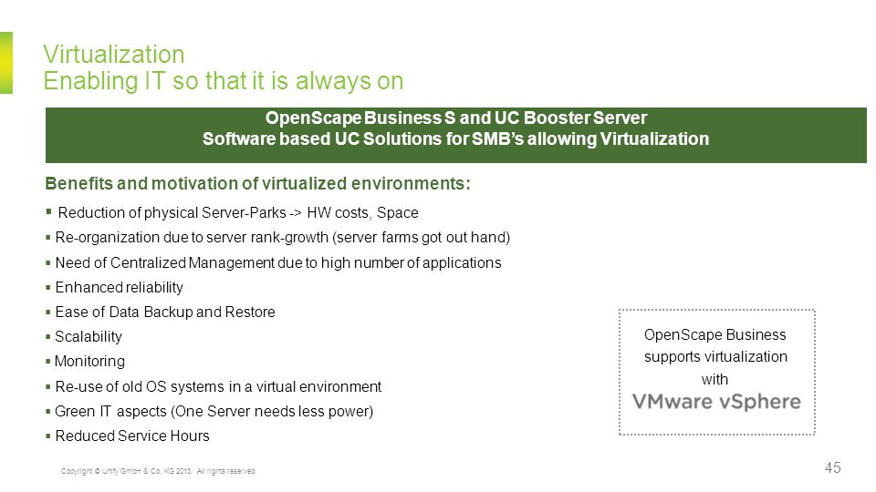 Virtualization Enabling IT so that it is always on