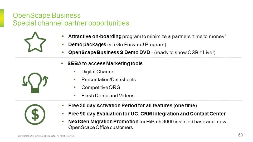OpenScape Business Special channel partner opportunities