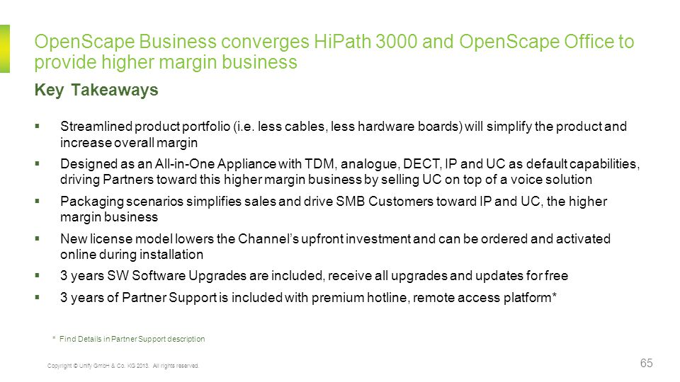 OpenScape Business converges HiPath 3000 and OpenScape Office to provide higher margin business