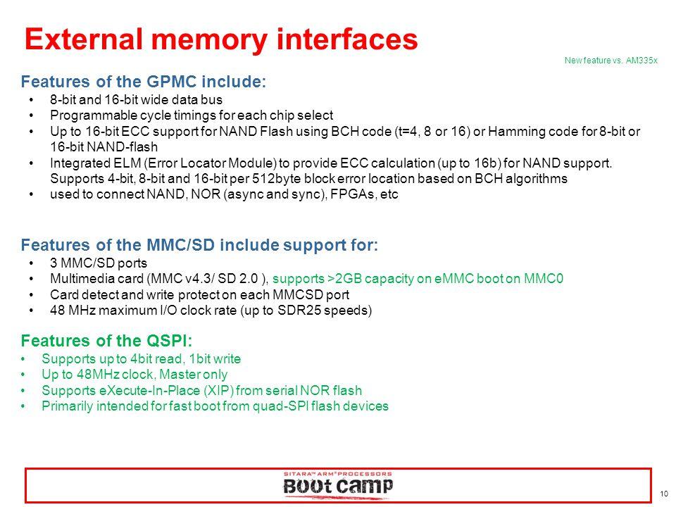 External memory interfaces