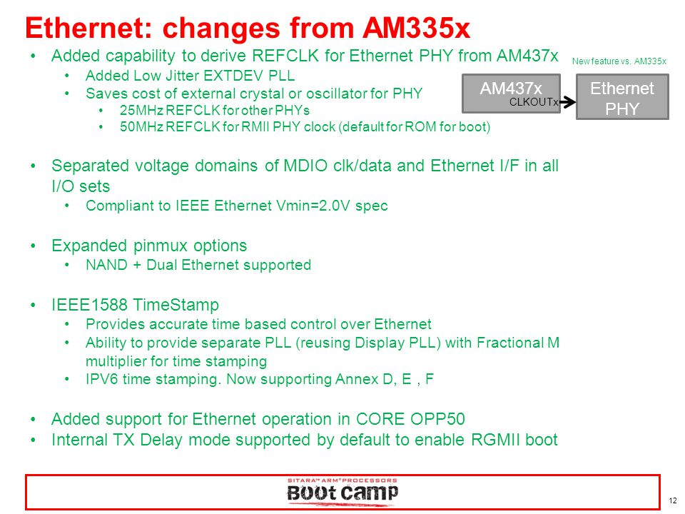 Ethernet: changes from AM335x