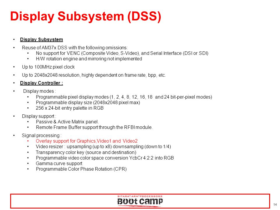 Display Subsystem (DSS)