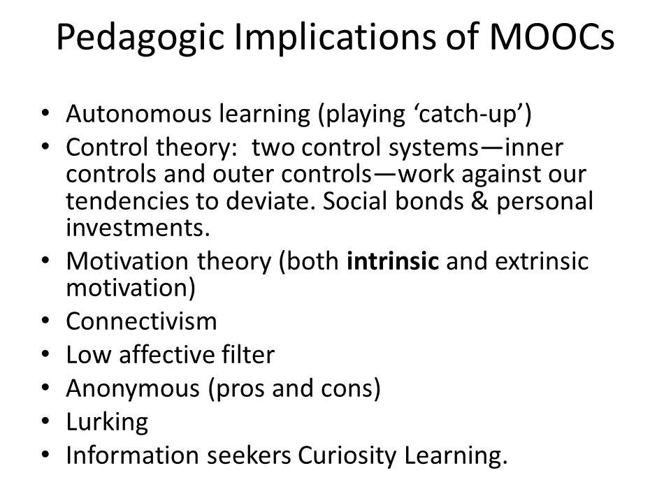 Pedagogic Implications of MOOCs