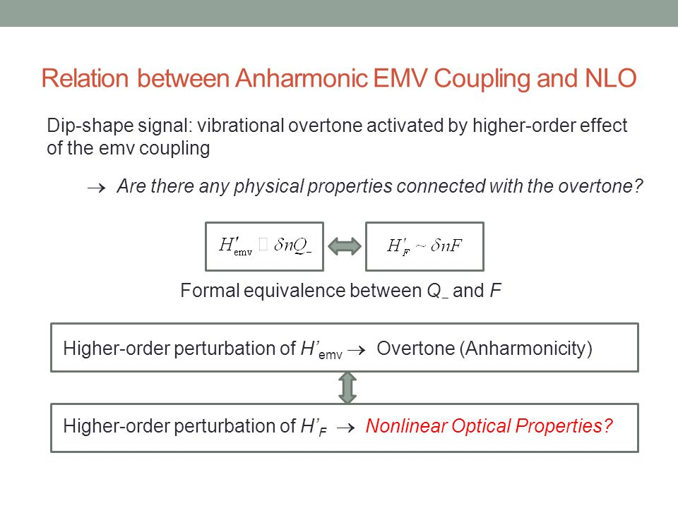 Relation between Anharmonic EMV Coupling and NLO
