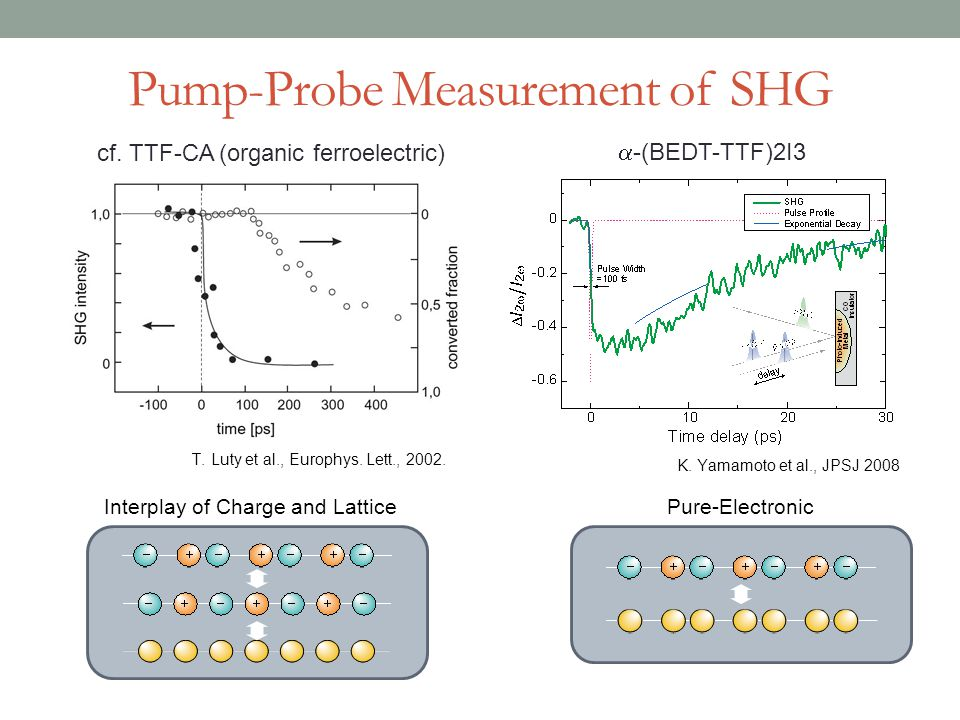 Pump-Probe Measurement of SHG